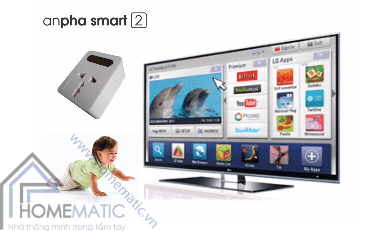 Ổ cắm điện thông minh Anpha smart 2 APS4096
