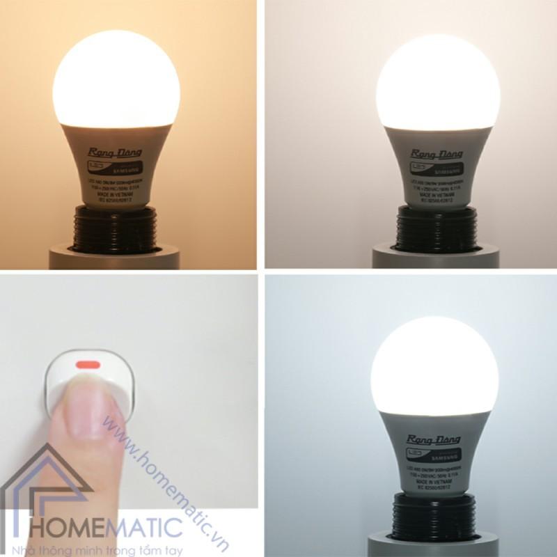 Bóng đèn led đổi 3 màu Rạng Đông giúp bạn có những ánh sáng tùy ngữ cảnh trong phòng