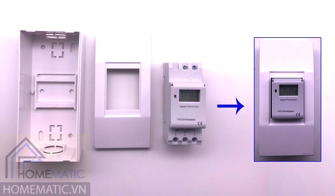 Công tắc hẹn giờ THC15A Precision có thể lắp vào đế nổi