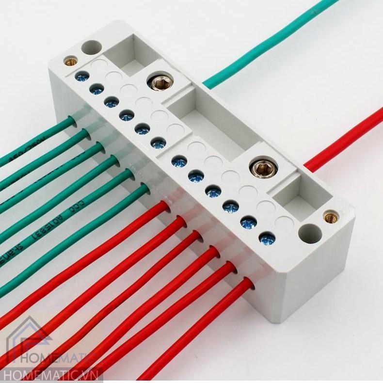 Cầu đấu chia dây điện đôi 1 chia 4-8 FJ6