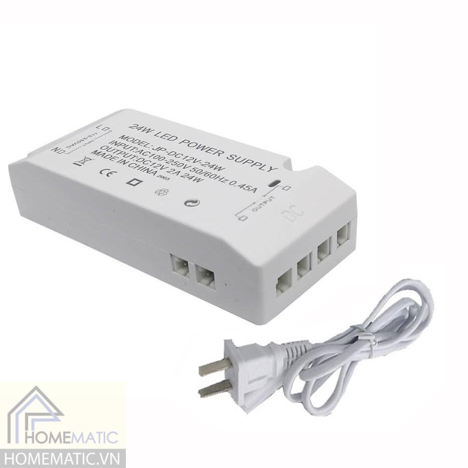 Bộ nguồn chuyên LED tủ quần áo 12V - 24W- JP-DC12V24W