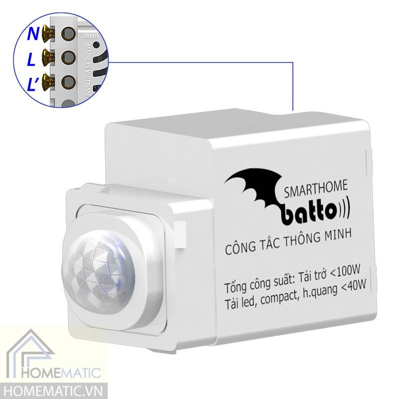 Công tắc cảm biến chuyển động hồng ngoại batto BTX-3C-PIRV1