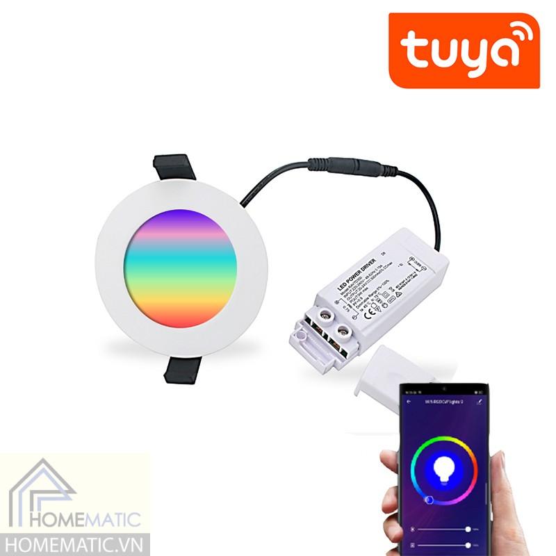 Đèn LED downlight Wifi âm trần RGB đổi màu Tuya 9-12-18W SDC