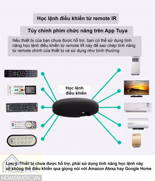 Học lệnh điều khiển remote iR