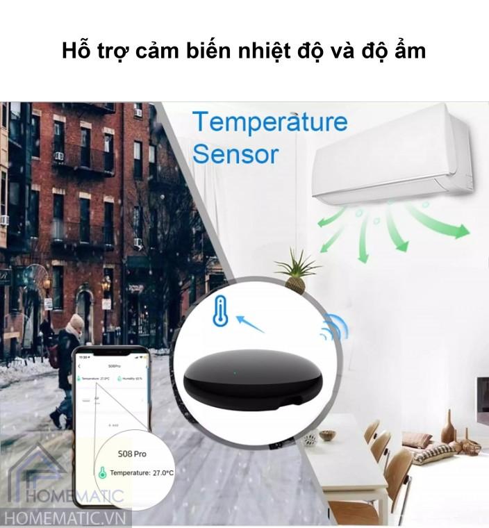 Hỗ trợ cảm biến nhiệt độ
