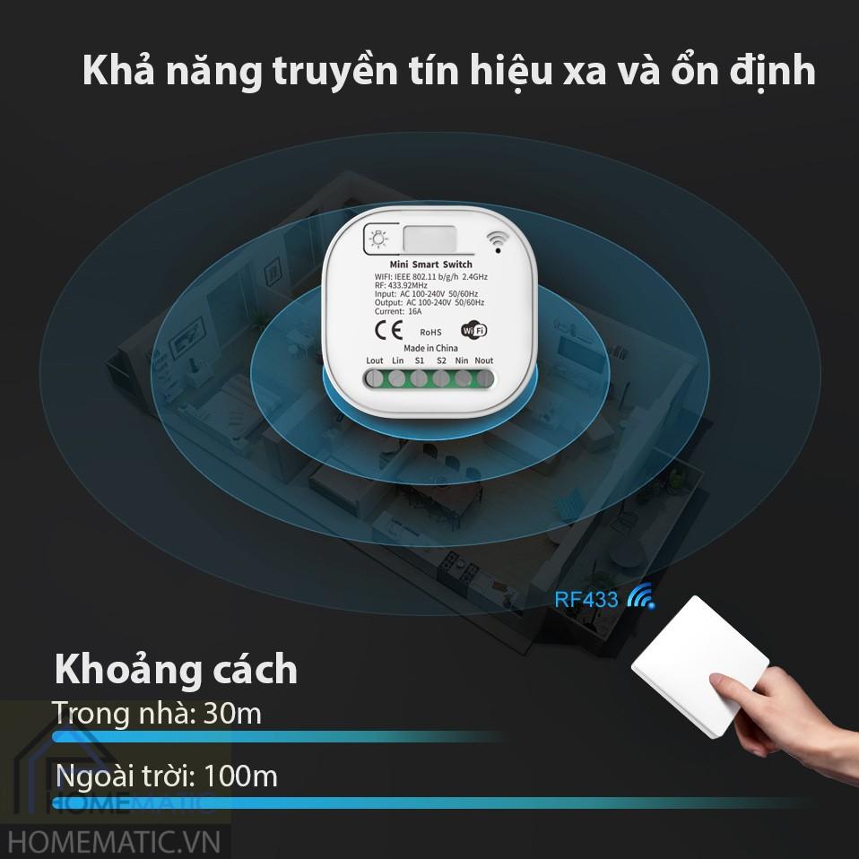 Nút bấm remote dán tường không dây không dùng pin RS
