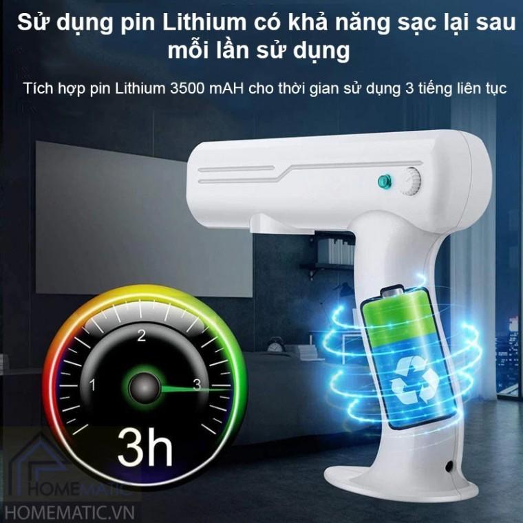 Máy phun khử trùng cầm tay hỗ trợ diệt khuẩn UV Atomizer
