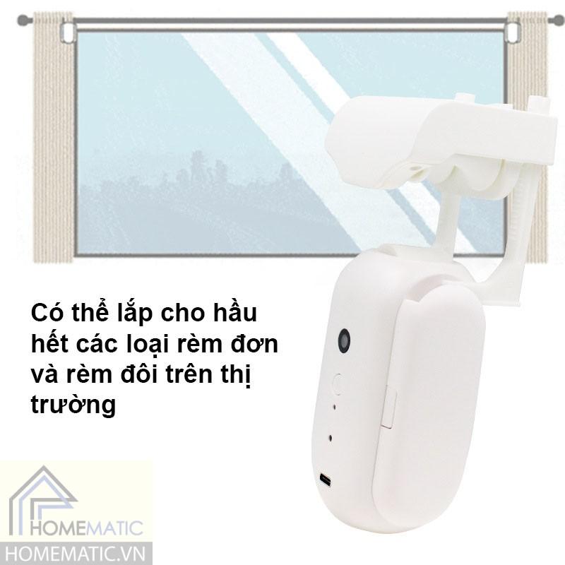 Robot mở rèm, màn cửa chạy ôm thanh treo rèm Smartlife MC1X
